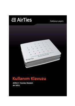 2.2.1 AirTies Air 5021 Türkçe Interaktif Kurulum CD`si ile Ayarlar