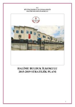 stratejik plan - Halime Bulduk İlkokulu