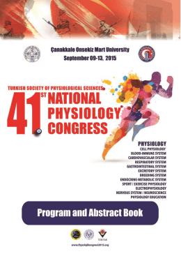 Türk Fizyolojik Bilimler Derneği 41. Ulusal Fizyoloji Kongresi