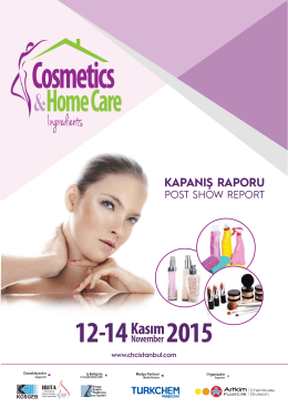 Cosmetics & Home Care Ingredients 2015 Kapanış Raporu