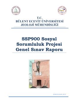 SSP Acil Kaçış Plânı (Rapor) - Jeoloji Mühendisliği Bölümü
