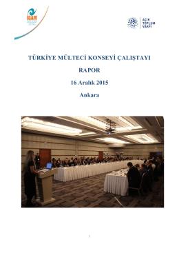 TMK Çalıştay Raporu - İGAM İltica ve Göç Araştırma Merkezi