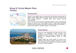Sinop İli Turizm Master Planı Türkiye