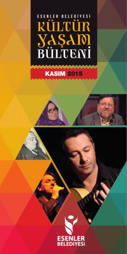 Esenler Kasım 2015 Kultur Yasam Bulteni 03.indd