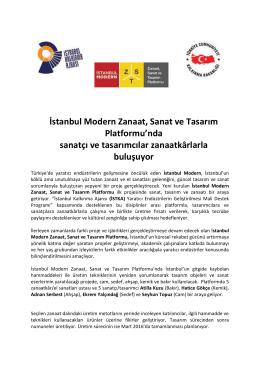 İstanbul Modern Zanaat, Sanat ve Tasarım Platformu`nda sanatçı ve