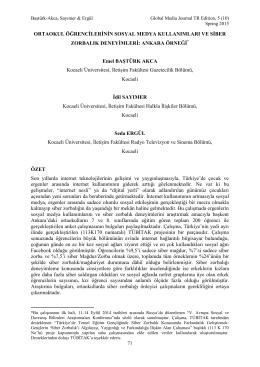 Emel BAŞTÜRK-AKCA, İdil SAYIMER & Seda ERGÜL Ortaokul