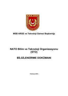 NATO Bilim ve Teknoloji Organizasyonu (STO) BİLGİLENDİRME