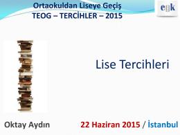 2015 Liseye Geçiş -TEOG