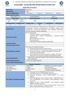 elektrik - elektronik mühendisliği bölümü