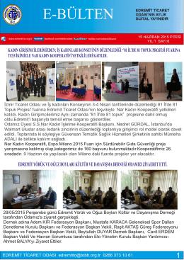 haziran 2015 - Edremit Ticaret Odası