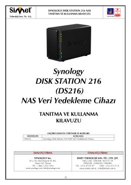 Synology DS216 Kullanım Kılavuzu