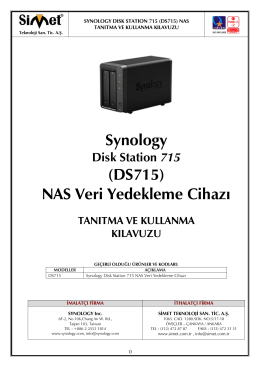 Synology DS715 Kullanım Kılavuzu