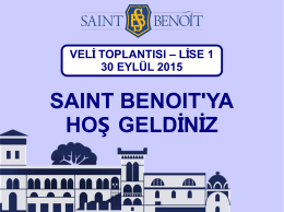 slayt gösterisi - Saint Benoit Fransız Lisesi
