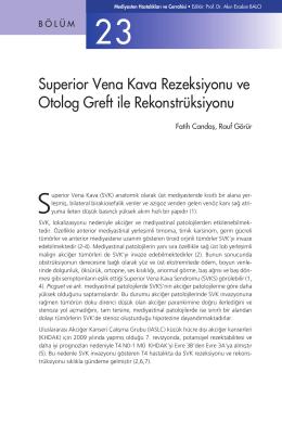 Bölüm 23 - Superior Vena Kava Rezeksiyonu ve Otolog Greft ile