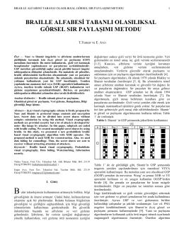 braılle alfabesi tabanlı olasılıksal görsel sır paylaşımı metodu