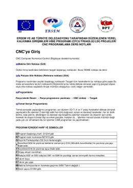 Ersem Erciyes Üniversitesi Cnc Freze Programlama Notları