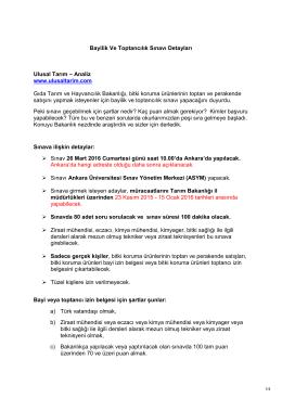 Bayilik Ve Toptancılık Sınavı Detayları Ulusal Tarım – Analiz www