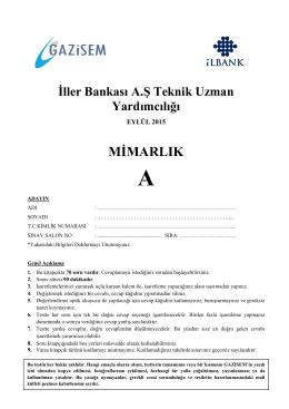 Mimarlık - İller Bankası Genel Müdürlüğü