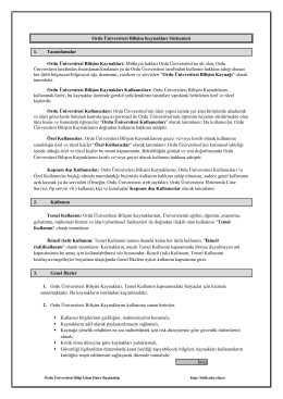 Bilişim Kaynakları Sözleşmesi - Mevzuat