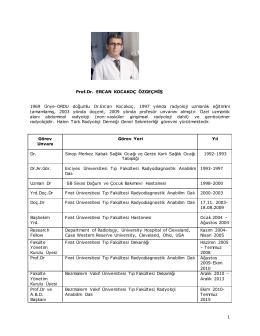 Dr. Ercan KOCAKOÇ - Türk Radyoloji Derneği