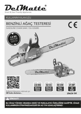 BENZİNLİ AĞAÇ TESTERESİ - Delmatte