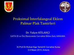 Tip III………….Kırıklı-Çıkıklar - Türk El ve Üst Ekstremite Cerrahisi