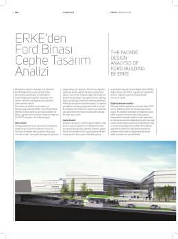 ERKE`den Ford Binası Cephe Tasarım Analizi