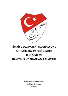Hakemlik ve Puanlama Elkitabı - Türkiye Buz Pateni Federasyonu