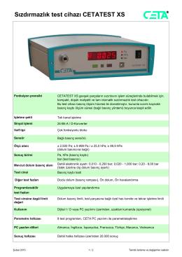 Sızdırmazlık test cihazı CETATEST XS