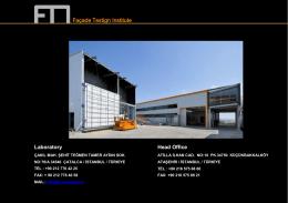FTI Ziyaretçi Rehberi - Façade Testing Institute