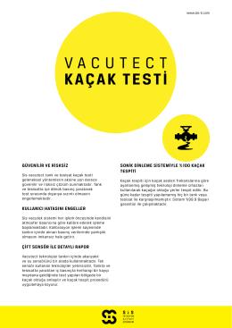 Vacutect Kaçak Testi