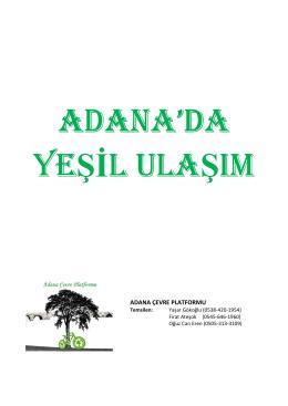 (Adana`da Yeşil Ulaşım)