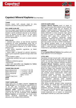 Capatect Mineral Kaplama (İnce Tane Doku)