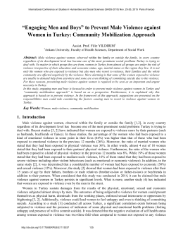 to Prevent Male Violence against Women in Turkey