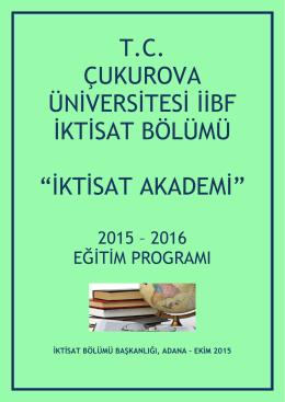 iktisat akademi - Çukurova Üniversitesi