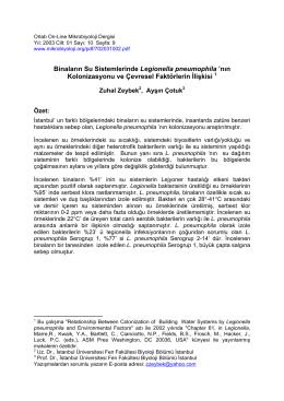 Binaların Su Sistemlerinde Legionella pneumophila