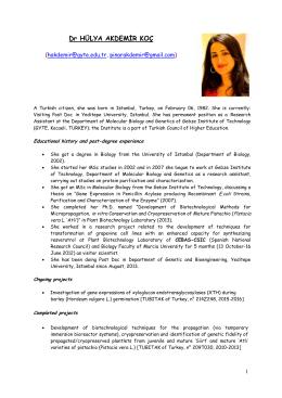 CV Hulya AKDEMIR 2015