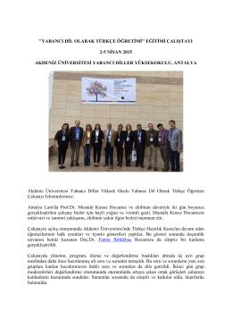 Çalıştay İzlenimlerimiz - Dil Bilimi
