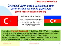 CERN-TR 30 Haziran 2015
