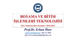 TEM204 Ders Notlarına İlave Sunum 30.03.2015