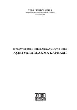 AŞIRI YARARLANMA KAVRAMI - On İki Levha Yayıncılık