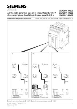 AC Otomatik Şalter için aşırı akım rölesi, Model B, C/G, V Over