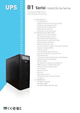 b1 serisi katalog - Enel Enerji Elektronik