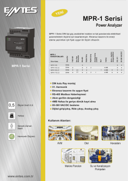 MPR1 Serisi Şebeke Analizörü