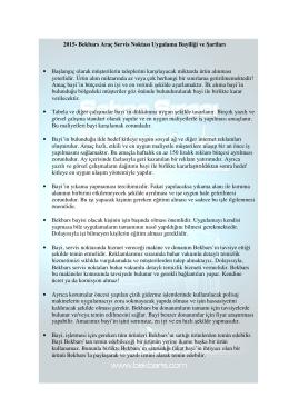 Bekbars Oto Koruma Bayilik Şartları - 2015