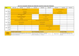 (SBA) Ders Programı - Spor Bilimleri ve Teknolojisi