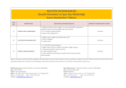 Maltepe Gençlik Spor İlçe Müdürlüğü Hizmet Standartları