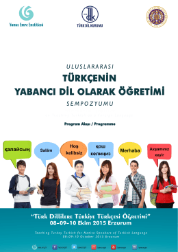 Program Kitapçığı - Yunus Emre Enstitüsü