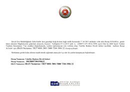 SUSAM` için (IBAN Numarası: TR57 0001 5001 5800 7304 1986 32