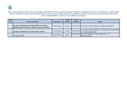Sıra No Firma Adı/Ünvanı Oda Sicil No Vergi Dairesi Vergi Numarası
